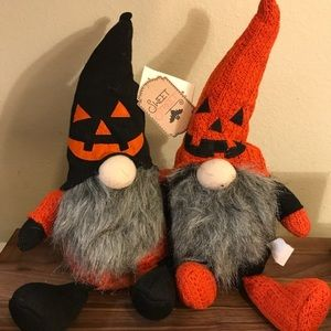 Halloween pumpkin gnome set